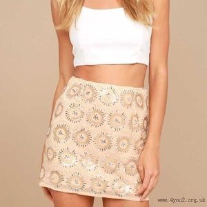 Lulus mini sequin skirt